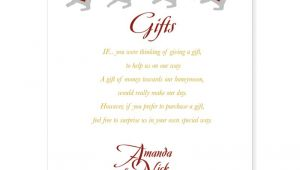 Gifts Using Wedding Invitation Wedding Invitation Lovely Gift List Wording Wedding