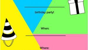 Gimp Birthday Invitation Template Party Invitation