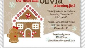 Gingerbread Birthday Invitations 15 Best Images About Party Ideas Gingerbread Birthday On