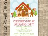 Gingerbread Birthday Invitations 20 Gingerbread House Decorating Party Invitations
