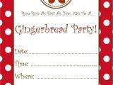 Gingerbread Birthday Invitations Free Gingerbread Party Invitation Schoolgirlstyle