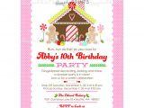 Gingerbread Birthday Invitations Gingerbread Birthday Printable Invitation Dimple Prints Shop