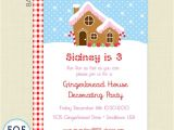 Gingerbread Birthday Invitations Gingerbread House Birthday Party Invitation Gingerbread
