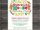 Gingerbread Birthday Invitations Gingerbread House Party Invitation Printable Gingerbread