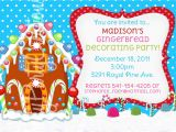 Gingerbread Birthday Invitations Gingerbread House Party Invitations