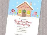 Gingerbread Birthday Invitations Gingerbread Party Invitation