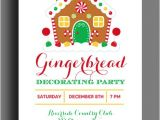 Gingerbread Birthday Party Invitations Gingerbread House Invitation Printable Christmas Party