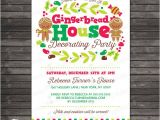 Gingerbread Birthday Party Invitations Gingerbread House Party Invitation Printable Gingerbread
