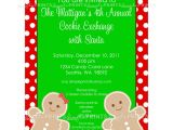 Gingerbread Birthday Party Invitations Gingerbread Man Printable Invitation Dimple Prints Shop