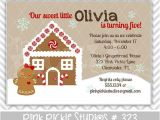 Gingerbread House Birthday Party Invitations 15 Best Images About Party Ideas Gingerbread Birthday On