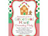 Gingerbread House Birthday Party Invitations Gingerbread House Decorating Party Invitation Zazzle