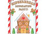 Gingerbread House Birthday Party Invitations Gingerbread House Decorating Party Invitations 5 Quot X 7