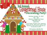 Gingerbread House Birthday Party Invitations Gingerbread House Decorating Party Invitations Red and Green