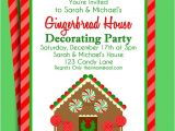 Gingerbread House Birthday Party Invitations Gingerbread House Invitation Printable Christmas Party or