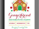 Gingerbread House Christmas Party Invitations 20 Gingerbread House Decorating Party Invitations