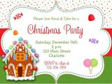 Gingerbread House Christmas Party Invitations Gingerbread House Christmas Party Invitation Christmas