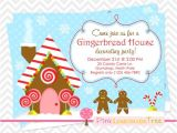 Gingerbread House Christmas Party Invitations Gingerbread House Christmas Party Invitation Gingerbread