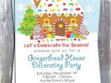 Gingerbread House Christmas Party Invitations Gingerbread House Decoration Party Invitation E File