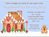 Gingerbread House Christmas Party Invitations Gingerbread House Holiday Christmas Party Invitations