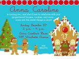 Gingerbread House Decorating Party Invitation Wording Gingerbread House Cookie Christmas Holiday Birthday