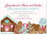 Gingerbread House Decorating Party Invitation Wording Gingerbread House Cookie Decorating Invitation Printable
