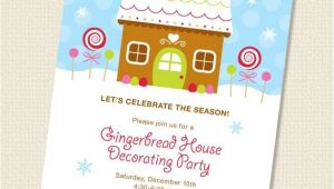Gingerbread House Decorating Party Invitation Wording Gingerbread House Decorating Party Invitation Diy by