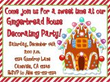 Gingerbread House Decorating Party Invitation Wording Gingerbread House Decorating Party Invitation Print Your Own