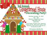 Gingerbread House Decorating Party Invitation Wording Gingerbread House Decorating Party Invitations Red and Green