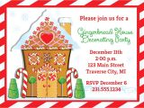 Gingerbread House Decorating Party Invitation Wording Gingerbread House Invitation Christmas Decorating Party