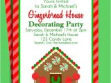 Gingerbread House Decorating Party Invitation Wording Gingerbread House Invitation Printable Christmas Party or