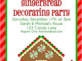 Gingerbread House Making Party Invitations Gingerbread House Christmas Candy Birthday Cake