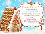 Gingerbread House Making Party Invitations Gingerbread House Party Invitations Cimvitation