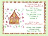Gingerbread House Making Party Invitations Gingerbread House Party Invitations Oxsvitation Com