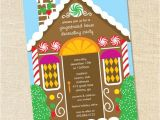 Gingerbread House Making Party Invitations Sweet Wishes Gingerbread House Decorating Party