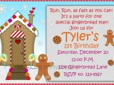 Gingerbread Man Birthday Party Invitations Gingerbread Man Birthday Invitation Kids by Welcometomystore
