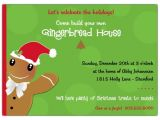 Gingerbread Man Birthday Party Invitations Gingerbread Man Kids Christmas Party Invitations Paperstyle