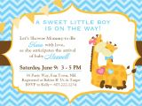 Giraffe Baby Shower Invitations Template Design Giraffe Baby Shower Invitations