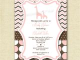 Giraffe Baby Shower Invites Baby Shower Invitation Giraffe Baby Shower Invitation