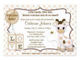 "Giraffe Baby Shower Invites Snickerdoodle Giraffe Baby Shower Invitations 5"" X 7"