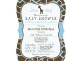 Giraffe Print Baby Shower Invitations Blue Giraffe Print Boy Baby Shower Invitation