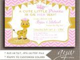 Giraffe Print Baby Shower Invitations Giraffe Baby Shower Invitations Girl Giraffe Baby Shower