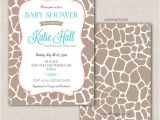 Giraffe Print Baby Shower Invitations Giraffe Print Baby Shower Invitation by Modernwhimsydesign