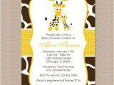 Giraffe themed Baby Shower Invitations Baby Shower Invitations Giraffe theme