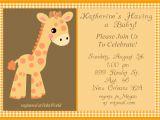 Giraffe themed Baby Shower Invitations Design Giraffe Baby Shower Invitations Girl Giraffe Baby