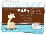 Giraffe themed Baby Shower Invitations Giraffe Baby Shower Invitation Boy Baby Shower