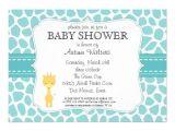 Giraffe themed Baby Shower Invitations Giraffe Baby Shower Invitations