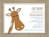 Giraffe themed Baby Shower Invitations Items Similar to Printable Modern Giraffe themed Baby Boy