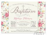Girl Baptism Invitations Free Printable Printable Baptism Invitation Girl Baptism by