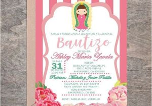 Girl Baptism Invitations In Spanish Baptism Baby Girl Invitation English & Spanish Virgin