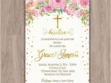 Girl Baptism Invitations In Spanish Bautizo Invitations Invitaciones De Bautizo Invitations
